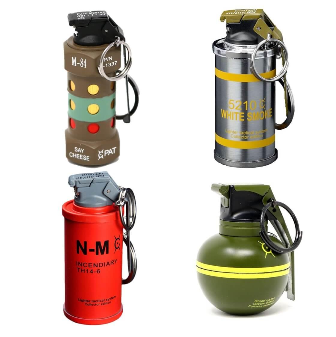 4 feuerzeuge im granaten design ein geschenk das m nner wollen auf was maenner. Black Bedroom Furniture Sets. Home Design Ideas