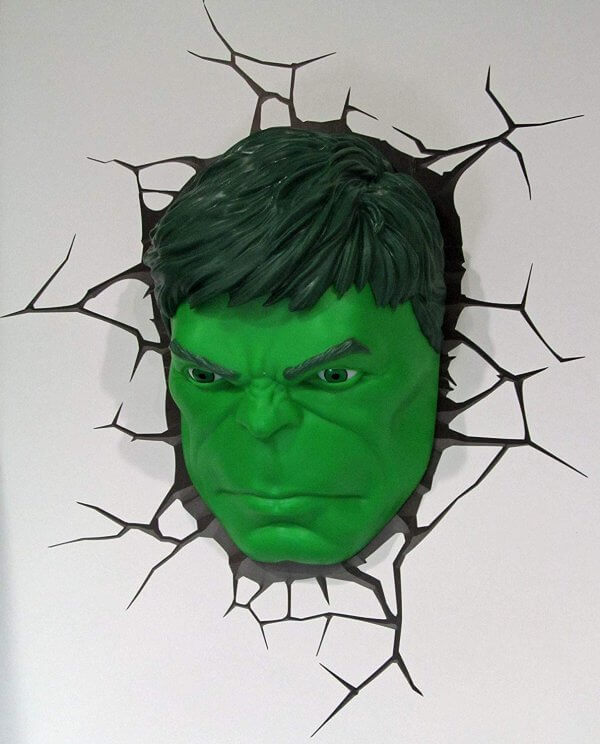 Superhelden 3D Wandleuchten – Optisch ein Highlight - Hulk
