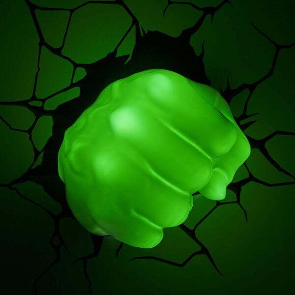 Superhelden 3D Wandleuchten – Optisch ein Highlight - Hulk Hand 2