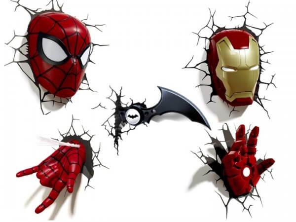 Titelbild Superhelden 3D Wandleuchten
