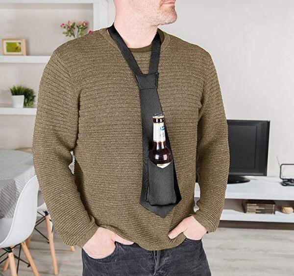 Bierhalter Krawatte Bier Männergeschenk Junggesellenabschiede 2